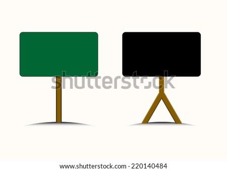 Blackboard, Blank board in vector EPS10 - stock vector
