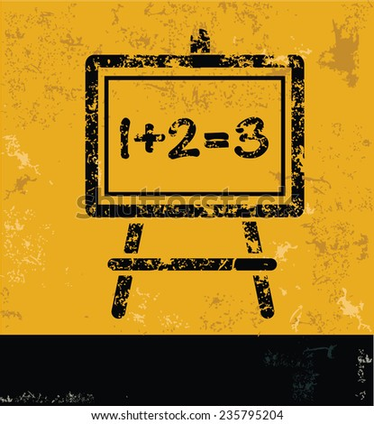 Blackboard design on yellow background,yellow vector - stock vector