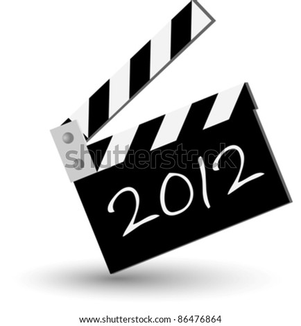 blackboard for new 2012 year eps10 - stock vector