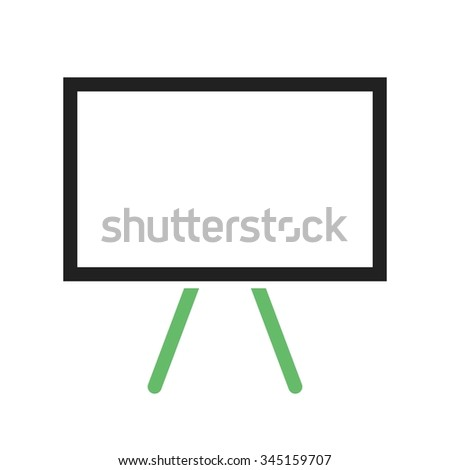Blackboard, school, learn icon vector image.Can also be used for education and science. Suitable for web apps, mobile apps and print media.