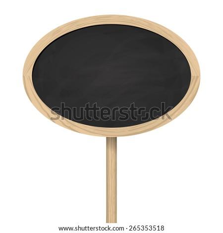 Blackboard standing on wooden post - stock vector