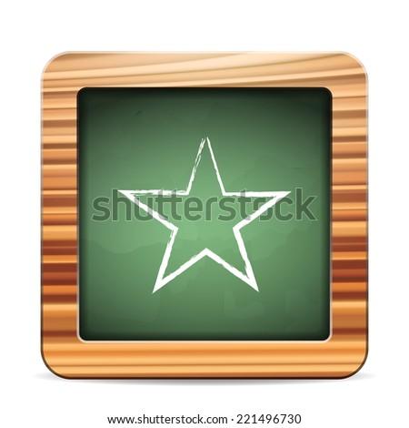 Blackboard star  on a white background. Vector illustration. - stock vector