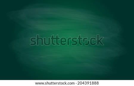 Blackboard texture or background. Chalk rubbed out on green blackboard. Vector blank chalkboard.  - stock vector