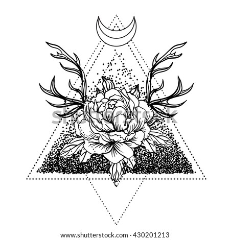Blog Post 7583 besides Cow Skull Coloring Book Vector Illustration 566515147 also Leo Zodiac Symbol Tattoos additionally Dotwork tattoo moreover 346003183845485434. on deer head tattoos
