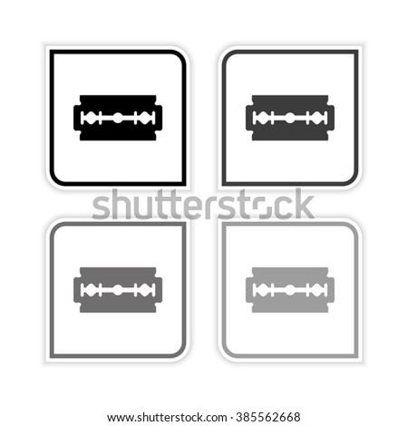 Blade razor  - grayscale vector icon - stock vector
