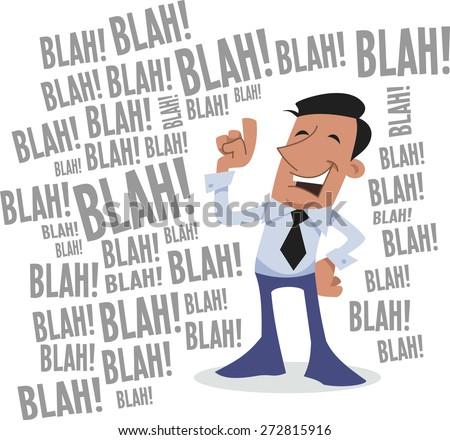 Blah Blah Blah Corporate Character Stock Vector 272815916 ...