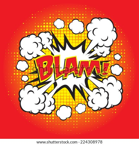 BLAM! comic word