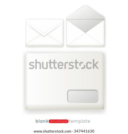 blank a 4 envelope mockup template three stock vector 347441630