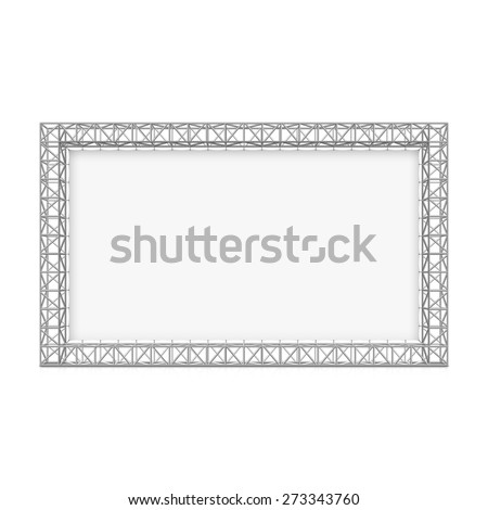 Blank advertising outdoor banner on truss system. Vector. - stock vector
