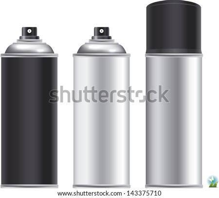 Blank aluminum spray can isolated on white background, Aerosol Spray Can , Metal Bottle - stock vector