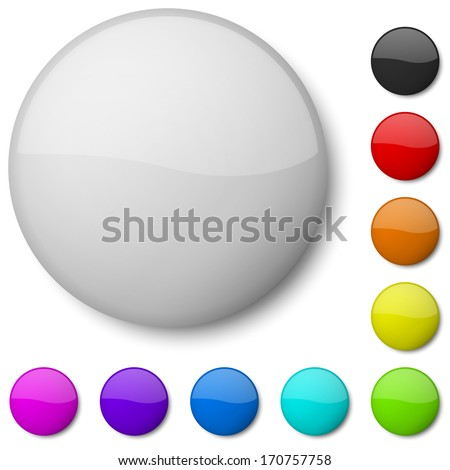 Blank badge vector template isolated on white background. - stock vector