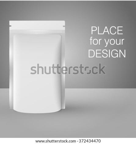 Blank bag package/ Vector illustration. Fully editable - stock vector