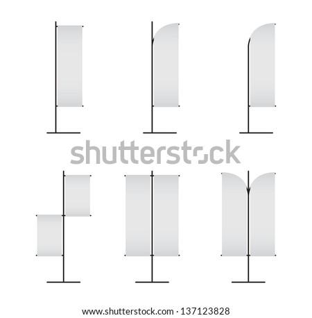 Blank banner japanese flag isolated on white - stock vector