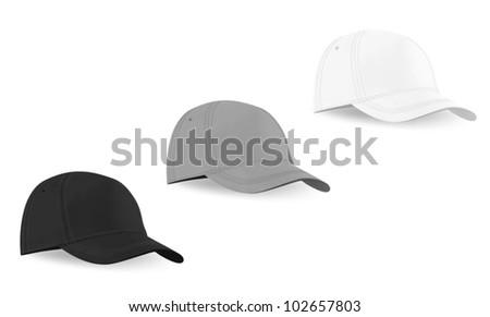 Blank Baseball Hat Template Stock Vector HD (Royalty Free) 102657803 ...
