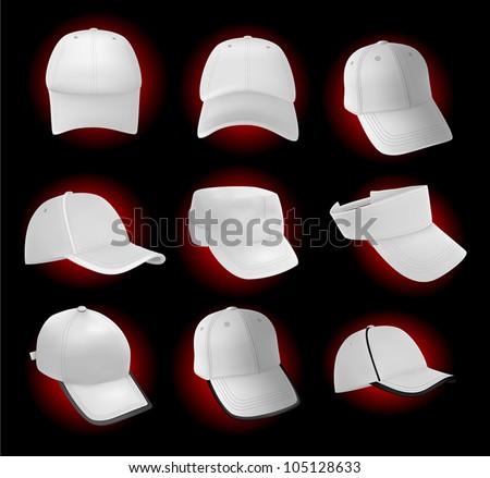 blank baseball hat template stock vector 105128633 shutterstock