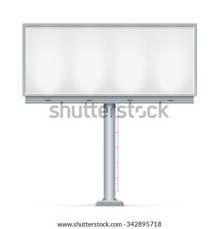 Blank big billboard. Mockup for your advertisement and design - stock vector
