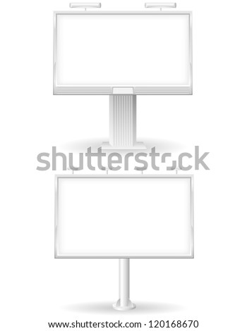 blank bilboard for advertising and announcements vector illustration isolated on white background - stock vector