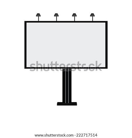 Blank billboard, billboard, billboard city, advertising - stock vector