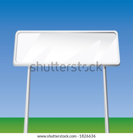 Blank Billboard (Fully Editable Vector Image) - stock vector
