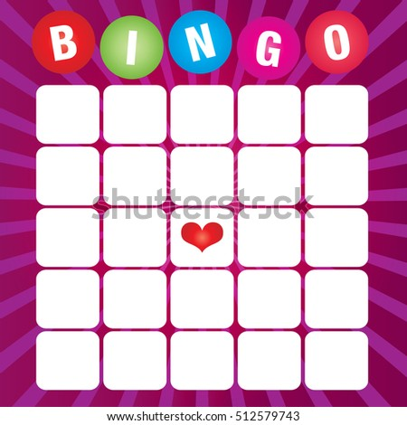 Blank Bingo Cards Vector Format Stock Vector   Shutterstock