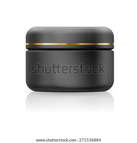 Blank black cream isolated on a white background - stock vector