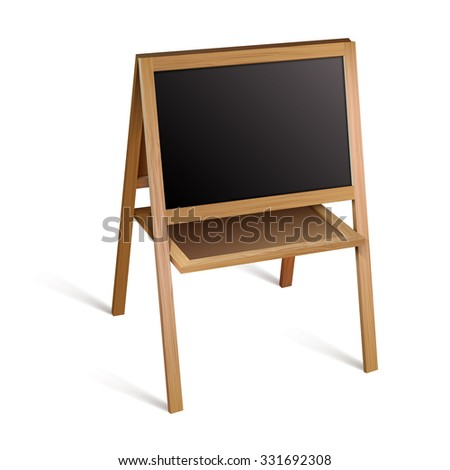 Blank blackboard.Vector illustration - stock vector