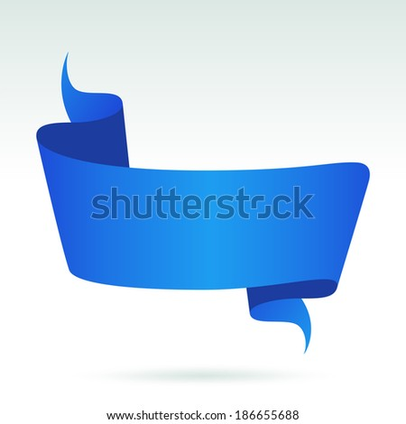Blank Blue Banner. - stock vector