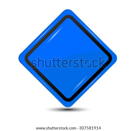 Blank Blue Sign isolated on white background - stock vector