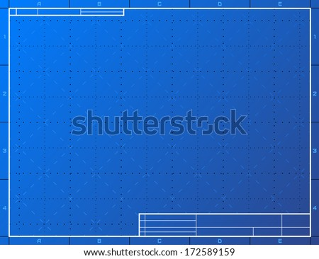Blank blueprint paper drafting drawing sheet stock vector 172589159 blank blueprint paper for drafting drawing sheet layout with frame and title block vector malvernweather Gallery