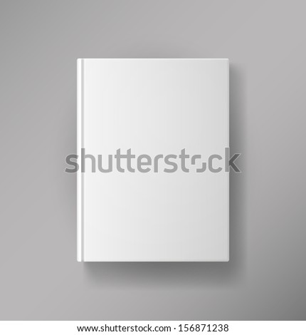 Blank book cover - stock vector