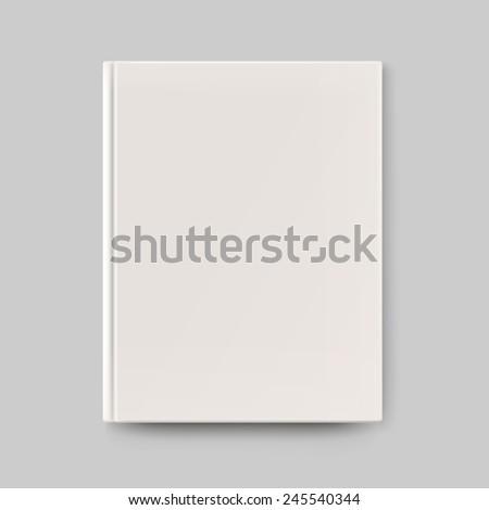 Blank book cover - stock vector