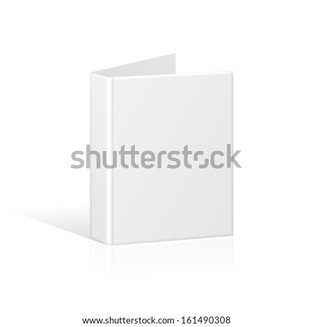 Blank Book Cover, Binder or Folder Template. Vector - stock vector