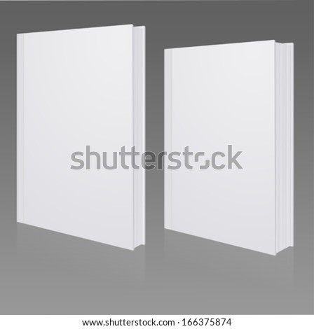 Blank book cover, hardcover, fine or coarse book - stock vector