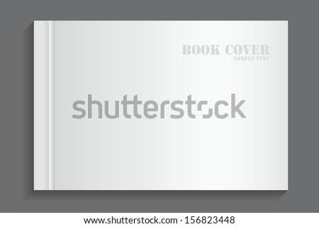 Blank book cover on gray background - Vector illustration - stock vector