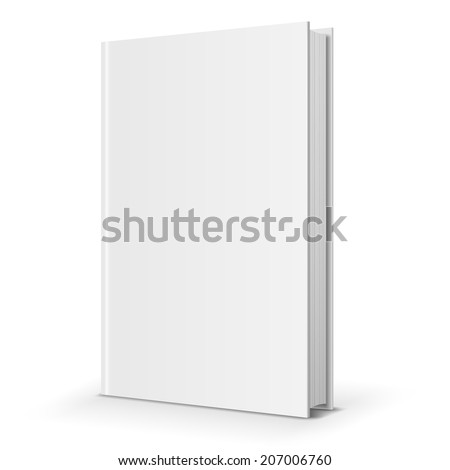 Blank  book cover template. Vector illustration. - stock vector