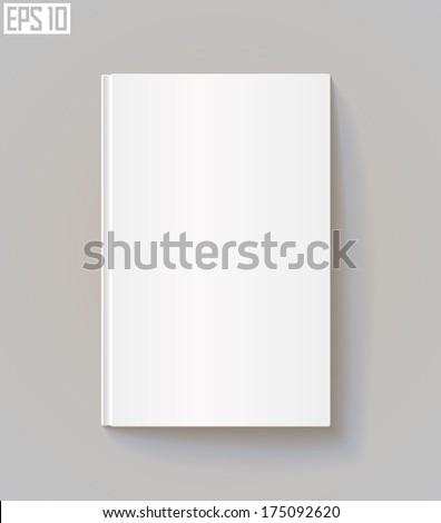 Blank book cover. Vector illustration. Eps 10 - stock vector