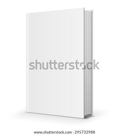 Blank book cover. Vector illustration over white background - stock vector