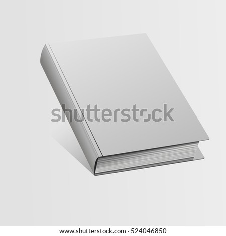 Blank book mockup with shadow vector illustration eps 10