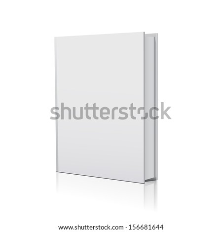 Blank book over white background