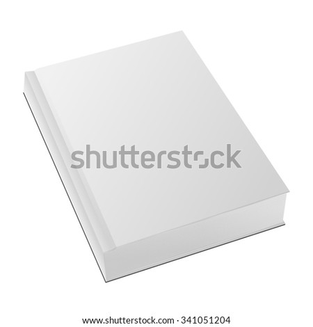 Blank Book Template Ready For Your Design. Vector illustration for your special design, isolated on a white background.