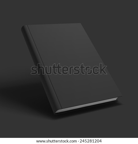 Blank book, textbook, booklet or notebook mockup. Object for design and branding. Vector Illustration EPS10. - stock vector