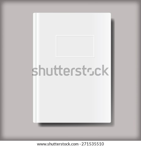 Blank book vector background.