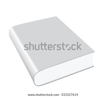 Blank Book with white cover - stock vector