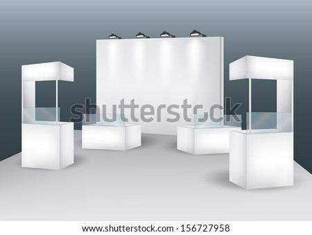 Blank booth event display vector - stock vector
