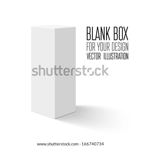 Blank box isolated on white background. Vector illustration - stock vector