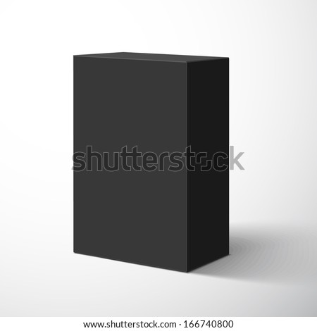 Blank box isolated on white background. Vector illustration
