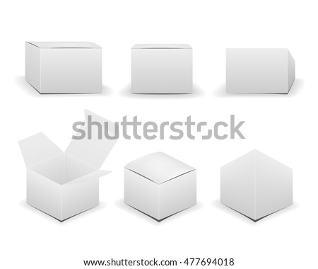 Blank box isolated on white background. Vector illustration.