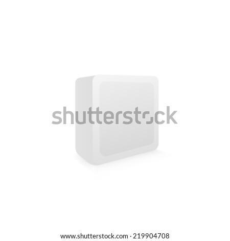 Blank box on white background - stock vector