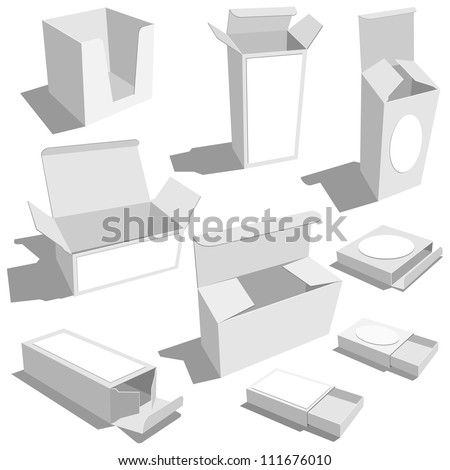 blank boxes - stock vector