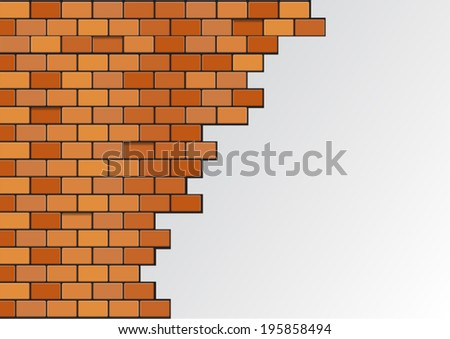 blank Brick wall - stock vector